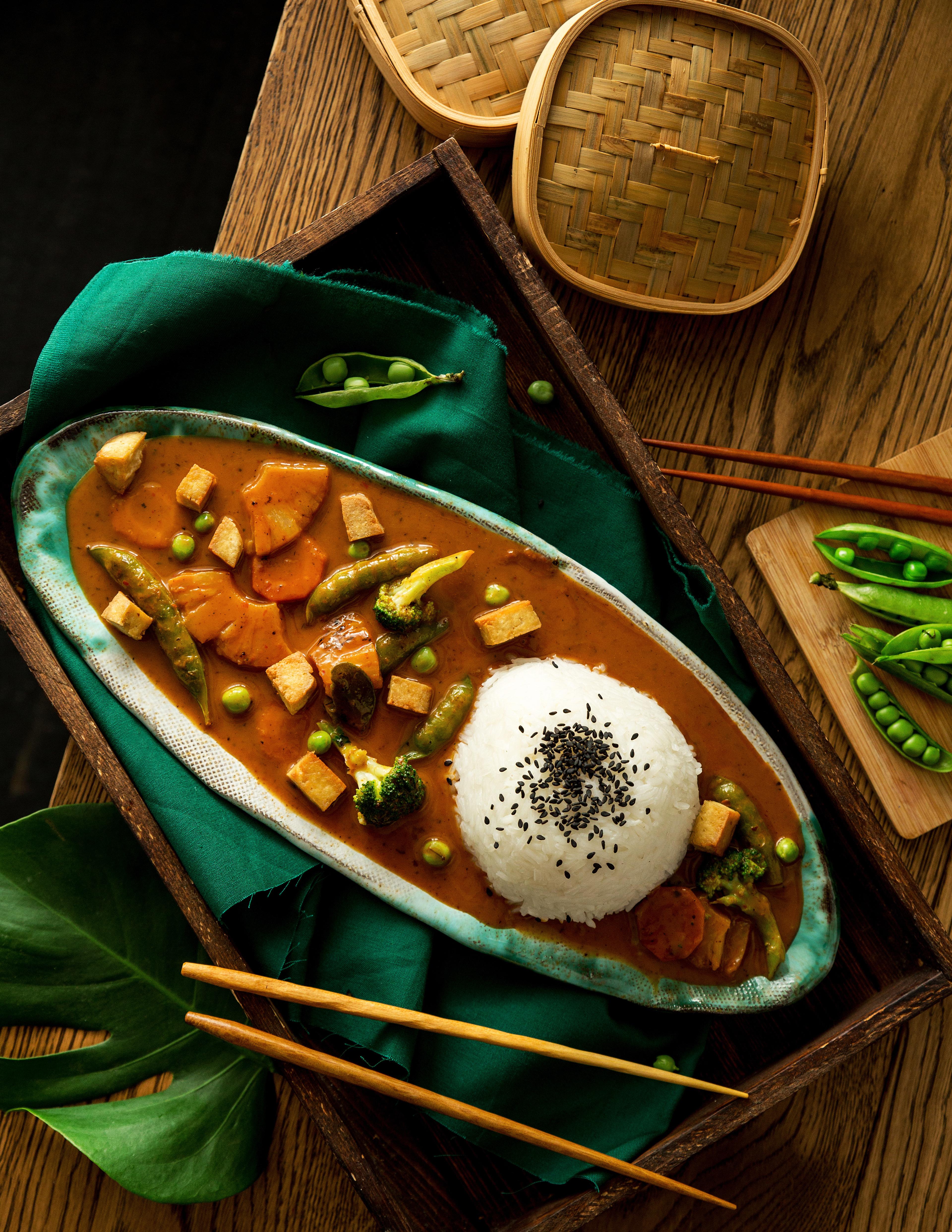 4a czerwone curry ztofu iwarzywami